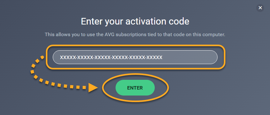 Enter the serial number of the activation code to the available form