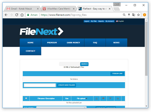 Filenext Member Page