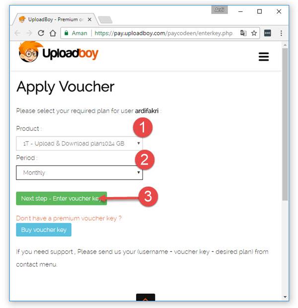 Apply Uploadboy Voucher
